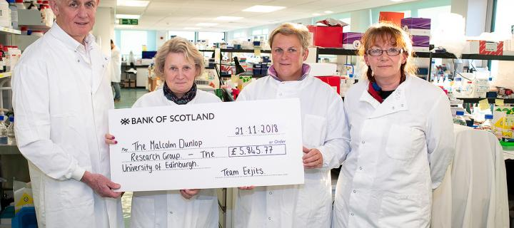 Dunlop: Donation to support bowel cancer research