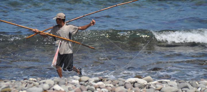 Environment and development - fisherman