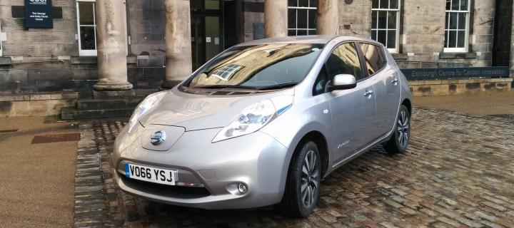 The Security Section is trialling this Nissan Leaf electric vehicle