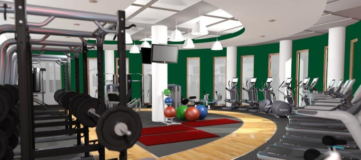 An artist impression of the gym at Easter Bush