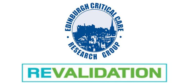 Edinburgh Critical Care Research Group and Revalidation logos