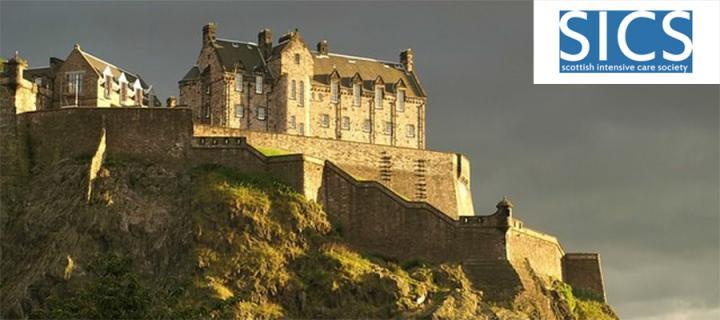 Edinburgh Castle and Scottish Intensive Care Society logo
