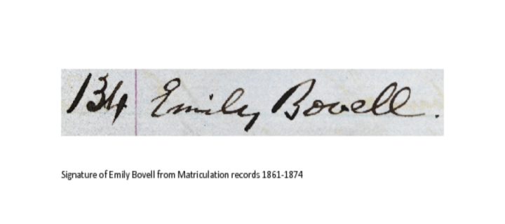 Emily Bovell signature