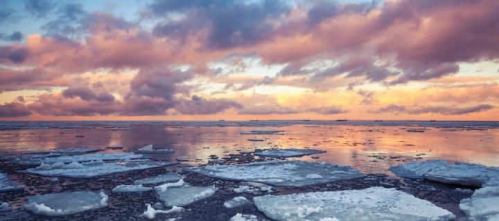 winter iceberg