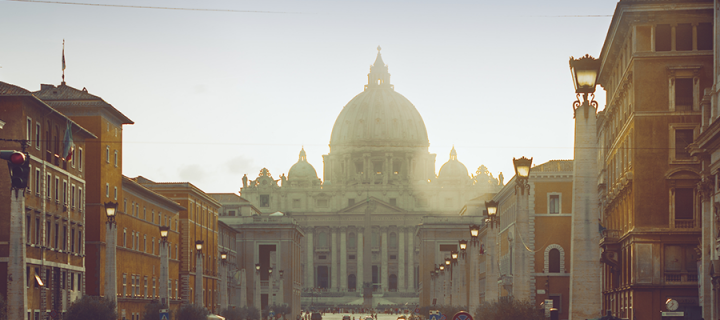 A photo of Rome at dusk for Edinburgh Global.