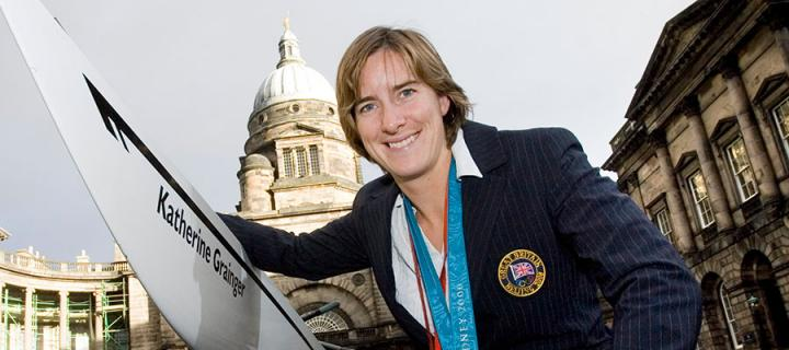 Katherine Grainger in Old College Quad