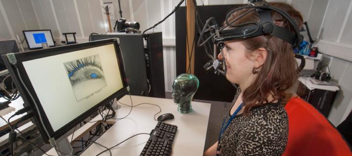 image of someone using eye-tracking equipment