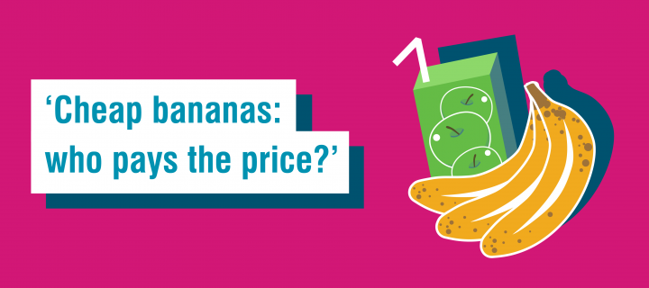 Fairtrade Fortnight 6 word story for fruit - ''Cheap bananas: who pays the price?''