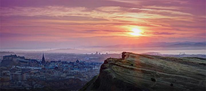 Edinburgh city view