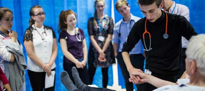 MBCHB students learning clinical skills at Edinburgh Medical School