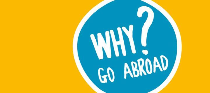 Why go abroad ? symbol