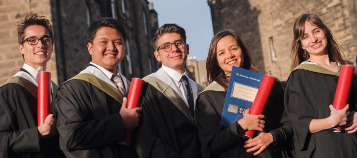 five graduates at the november 2016 ceremony