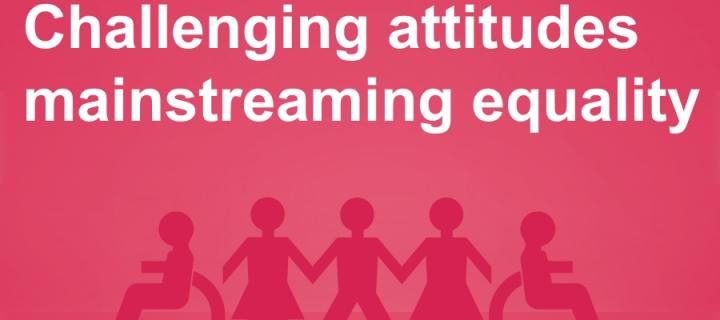 Challenging attitudes. Mainstreaming equality.