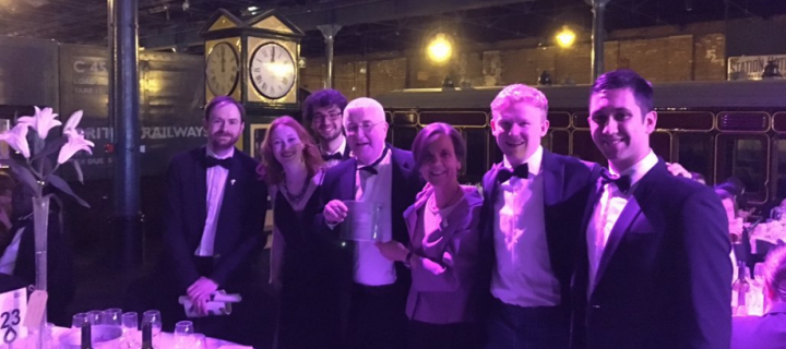 Representatives of the University of Edinburgh celebrating at the Green Gown Awards 2018