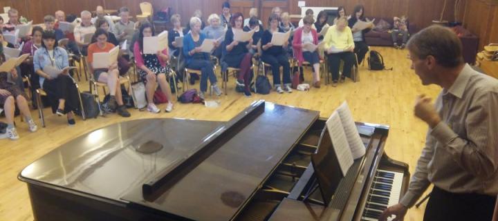 Harmony Choir rehearsal