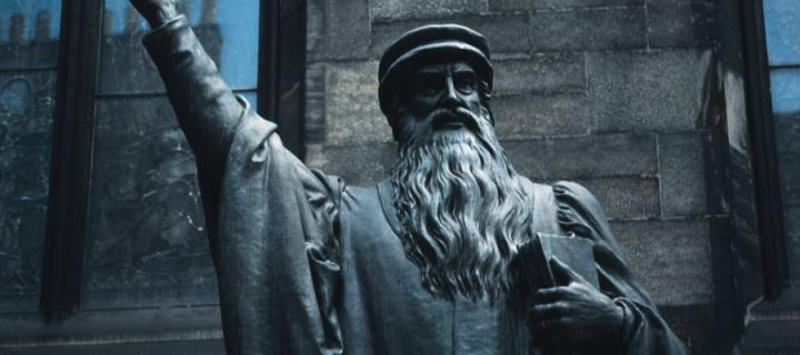 The John Knox statue in New College