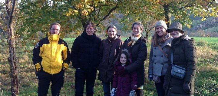 Group participating in the Edinburgh Gaelic Festival's Trees event in 2017 in Holyrood Park