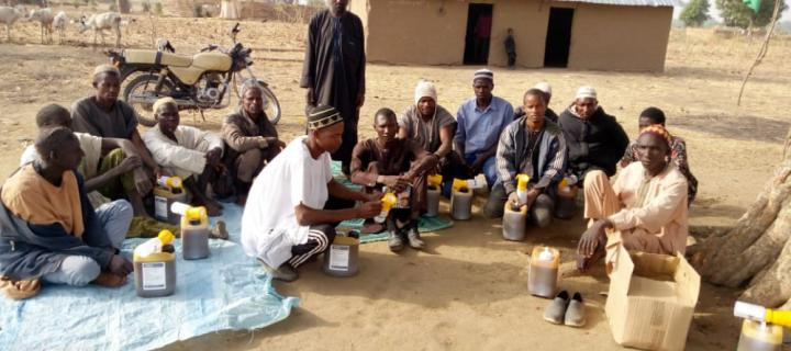 Abdulkadir Musa Mohammed working with a pastoral community in Nigeria