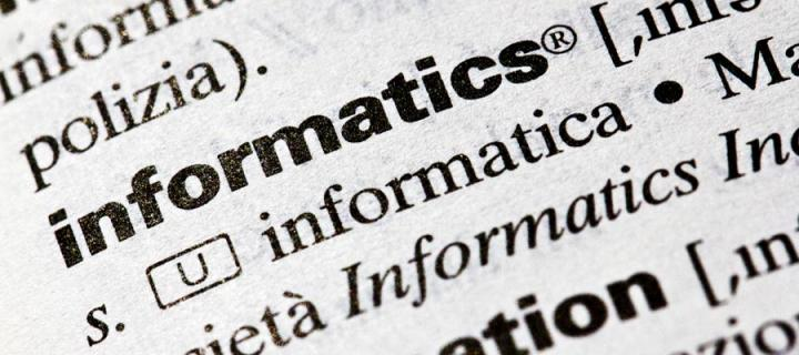 image of the word informatics in a dictionary