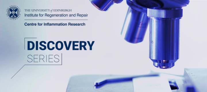 The CIR and Discovery Series logos next to a microscope, tinted blue.