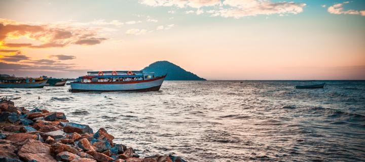 A boat on a lake in Malawi