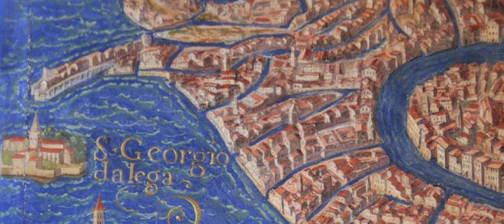 Map detail of medieval Italy