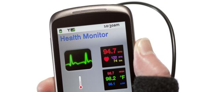Health monitor app with hand