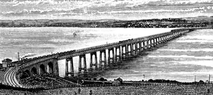 Illustration of the Tay Bridge in Dundee