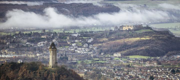 Wallace Monument and City of Stirling and Castle