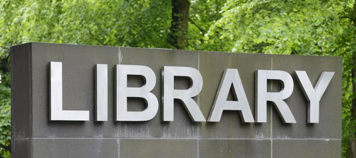 Main Library sign