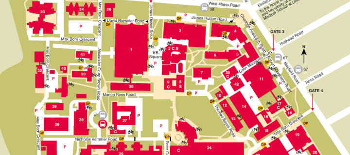 King University Campus Map.Location Map The University Of Edinburgh