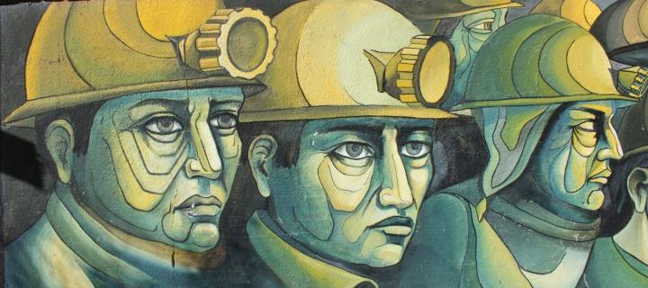 Wall art of the miners
