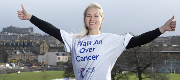 Edinburgh scientist Kristel is urging people to sign up to Walk All Over Cancer