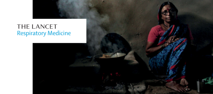 Cover Image from Lancet Respiratory Medicine Dec 2018 - cooking with biomass stove