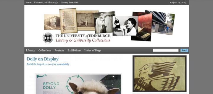 Library blogs homepage