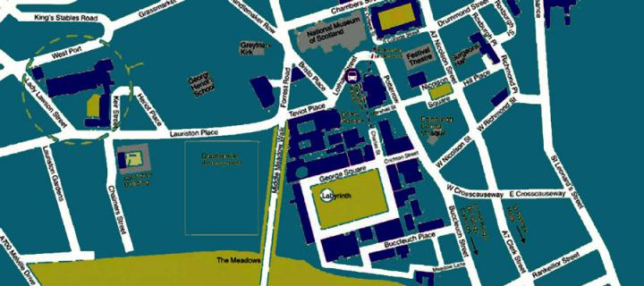 campus map - central area
