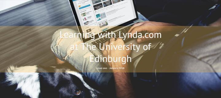 Image showing cover of Learning with Lynda.com newsletter
