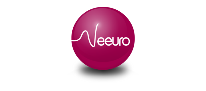 Neeuro written in white on a pink ball