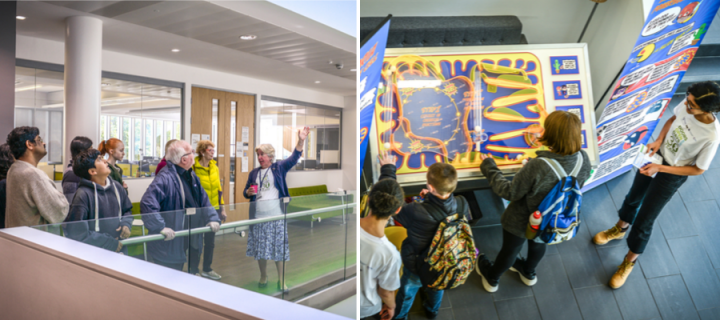 Visitors exploring IGMM for Doors Open Day 2019