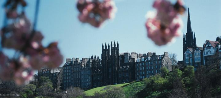 View of New College from Princes Street