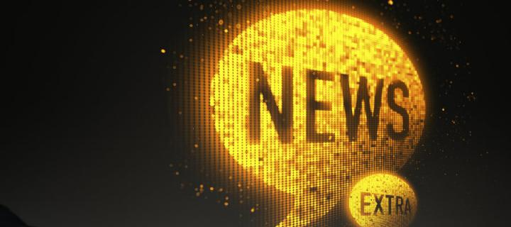 Imageof a yellow thought bubble with News written in it