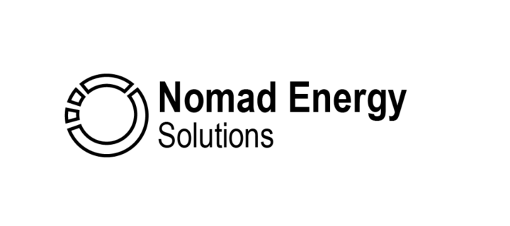 nomad energy solutions text on white background