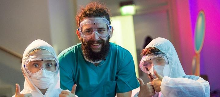 Performers at Science Saturday
