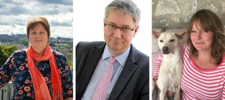 Margaret Frame, Andrew Morris and Hayley Walters