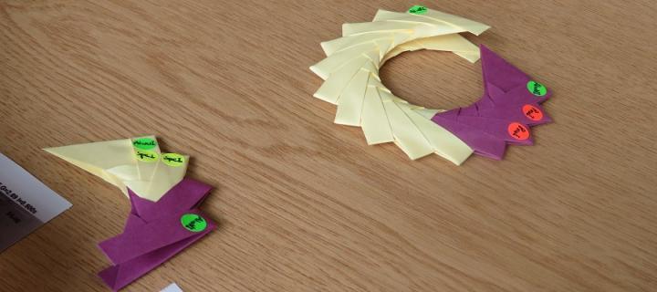 Origami plasmid segments by Cass Li