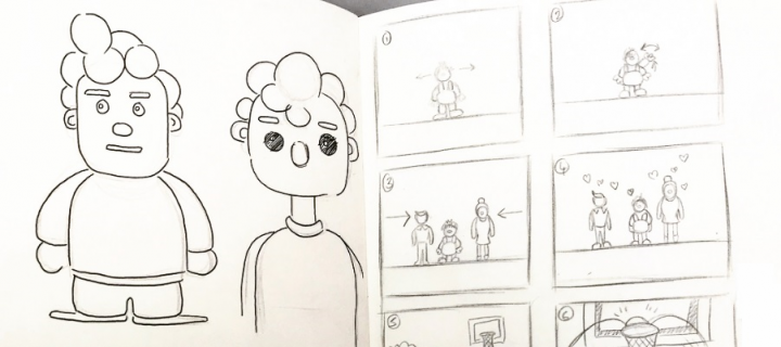 Storyboard scenes from student project animation about Attachment Disorder