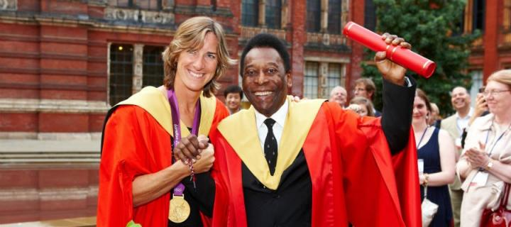 Pelé and Katherine Grainger