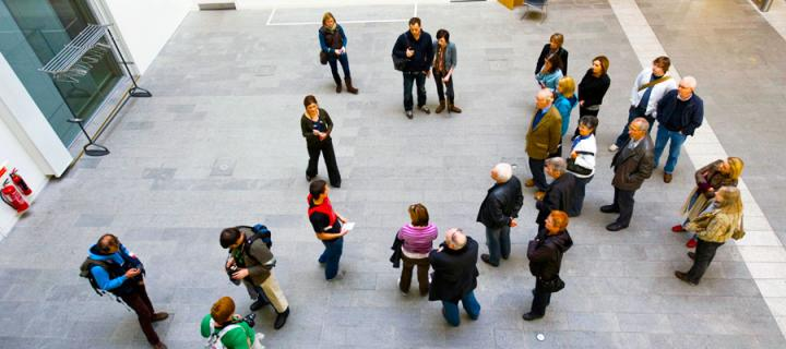 People in the Forum Atrium