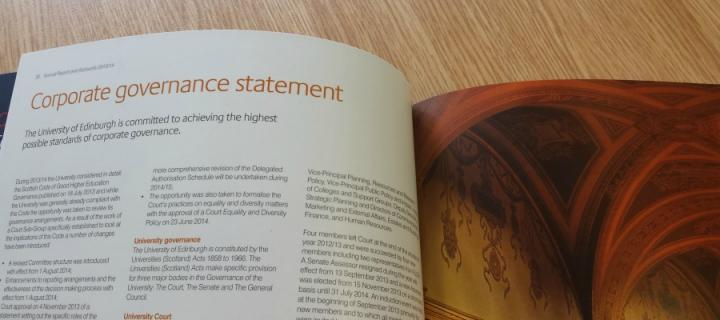 Page on Corporate Governance statement