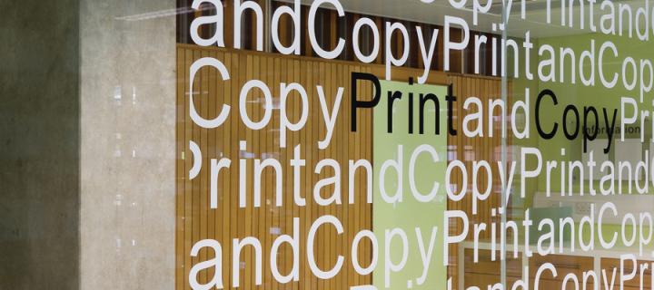 photocopy and print sign